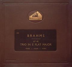 Brahms - Trio In E Flat Major For Piano