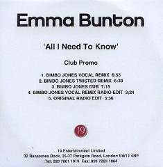 All I Need To Know (Club Promo) - Emma Bunton