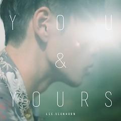 You And Yours (Mini Album) - Lee Seok Hoon