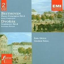 Beethoven - Piano Concerto No. 5; Dvorak - Symphony No. 8 CD 1  - Emil Gilels,George Szell,The Cleveland Orchestra