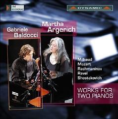 Works For Two Pianos  - Martha Argerich,Gabriele Baldocci