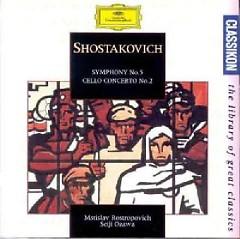 Shostakovich - Symphony No.5; Cello Concerto No.2  - Seiji Ozawa,Mstislav  Rostropovich,Boston Symphony Orchestra