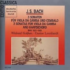 J.S.Bach - 3 Sonaten Für Viola Da Gamba And Cembalo; 3 Sonatas For Viola Da Gamba And Harpsichord