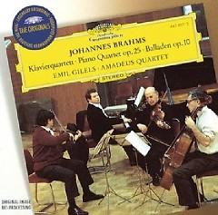 Brahms - Piano Quartet Op. 25; 4 Ballades Op. 10