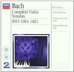 Bach - Complete Violin Sonatas CD 1 (No. 1) - Arthur Grumiaux, Philippe Mermoud, Christiane Jaccottet
